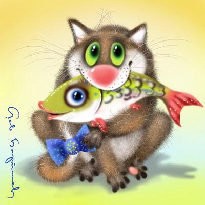 Иллюстрации художников коты