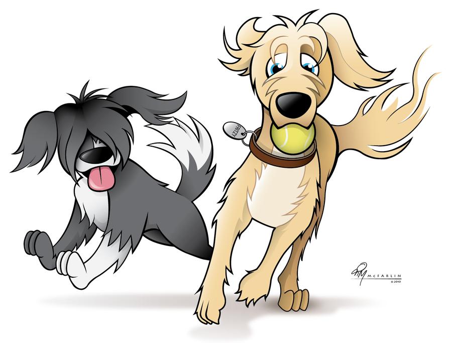 Нарисуйте 2 собаки